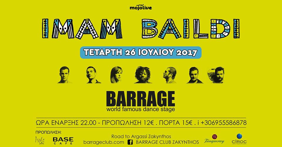 Imam Baildi live at Barrage Cl